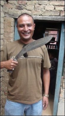 Ravi with his Grandfather's Kukri